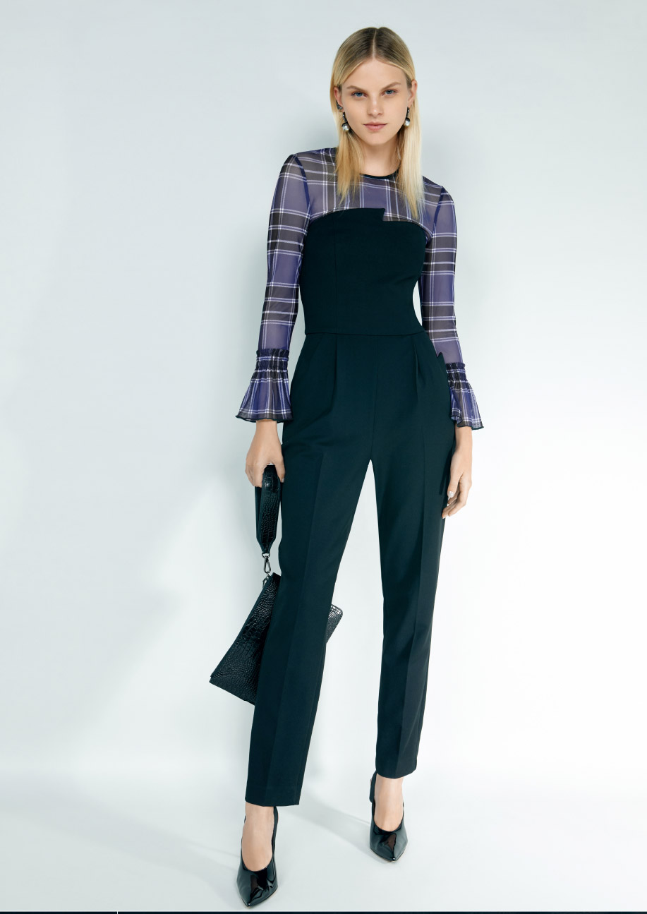9e17ca7145e Shop the Chain Stripe Crinkle Georgette Shirt.  CueClothing  CueAW19  AW19