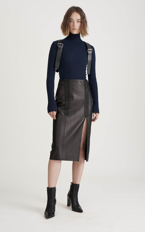 0cc0d0499d LACED COIL SKIRT by Dion Lee