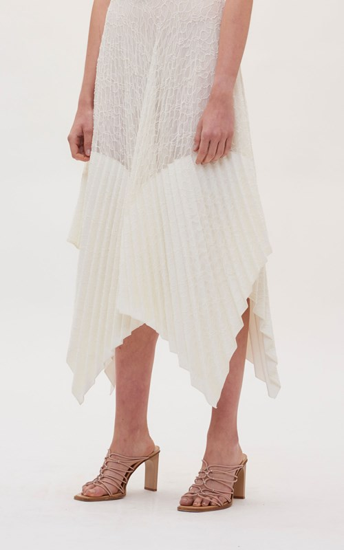 Skirts | VEIN LACE PLEATED SKIRT