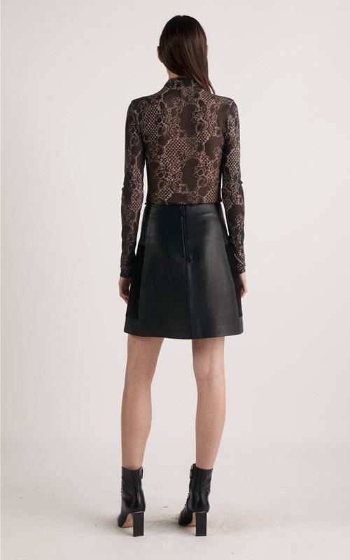 Skirts | ENCASED LEATHER MINI SKIRT