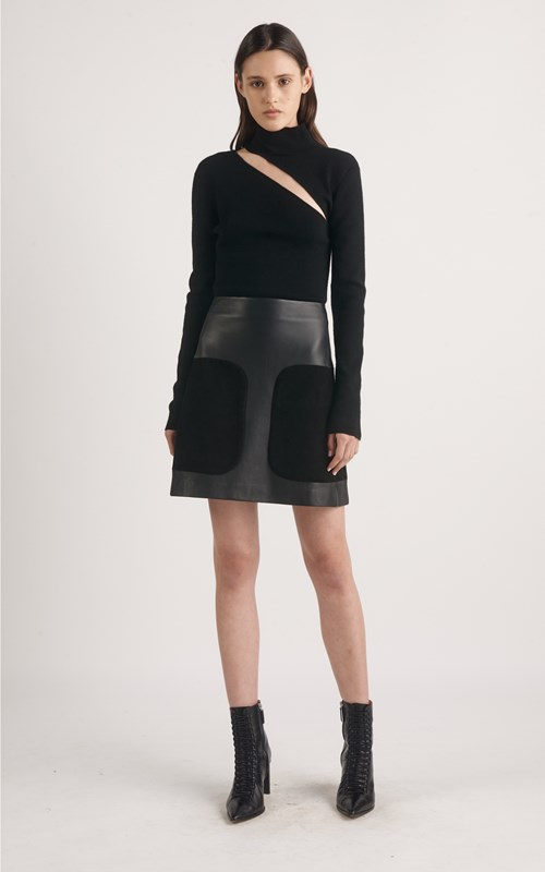 cc24bcfefd ENCASED LEATHER MINI SKIRT by Dion Lee