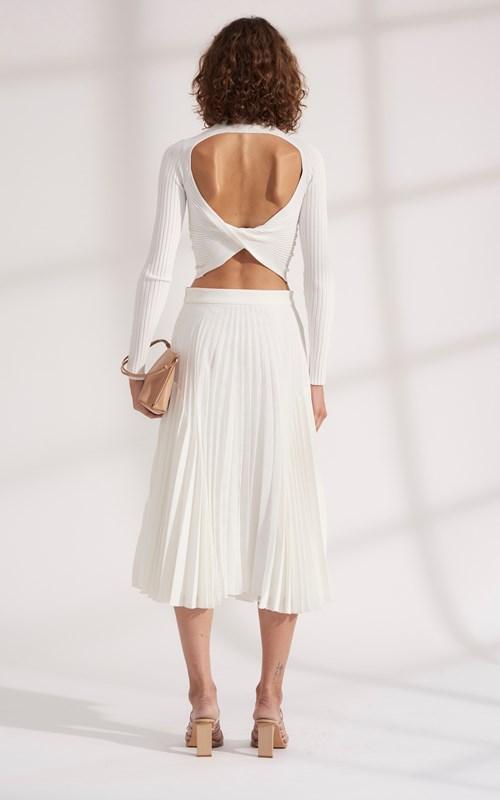 Skirts | MOIRE PLEAT SKIRT
