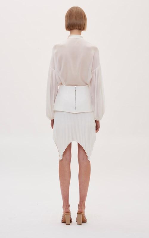 Skirts   ANGLED PLEAT MINI SKIRT