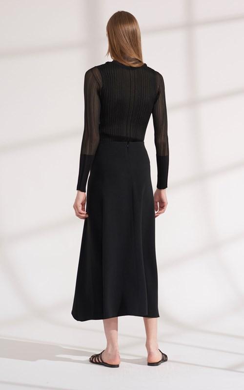 Skirts | PIERCED DRAPE SKIRT