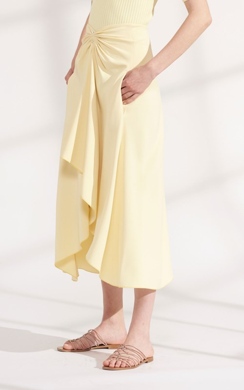 Skirts | PIERCED DRAPE SKIRT