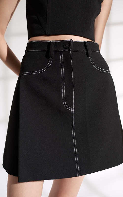 Skirts  | STITCH TUCK MINI SKIRT