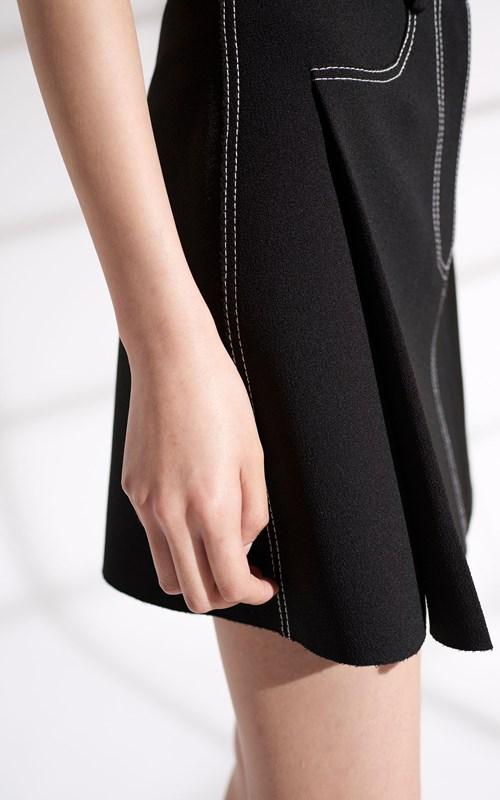Skirts | STITCH TUCK MINI SKIRT
