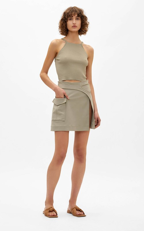 Skirts | POCKET INTERLOCK MINI SKIRT