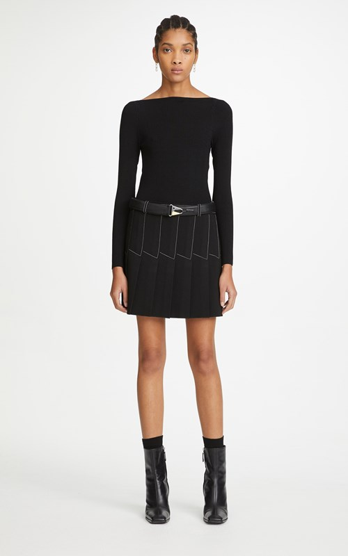 Skirts | COLUMN PLEAT MINI SKIRT