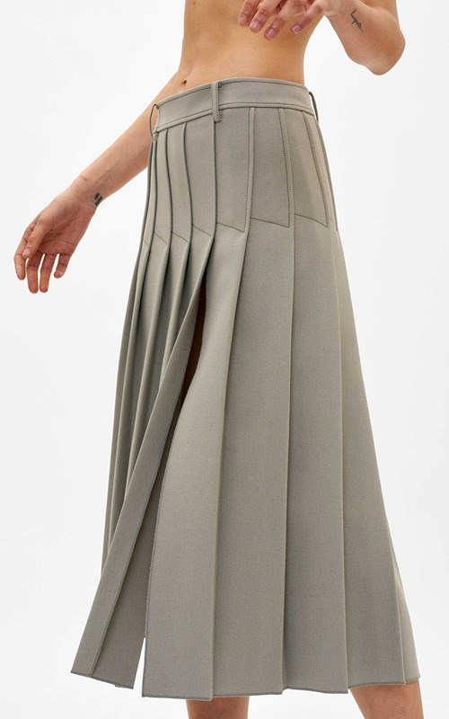 Skirts  | COLUMN PLEAT MIDI SKIRT
