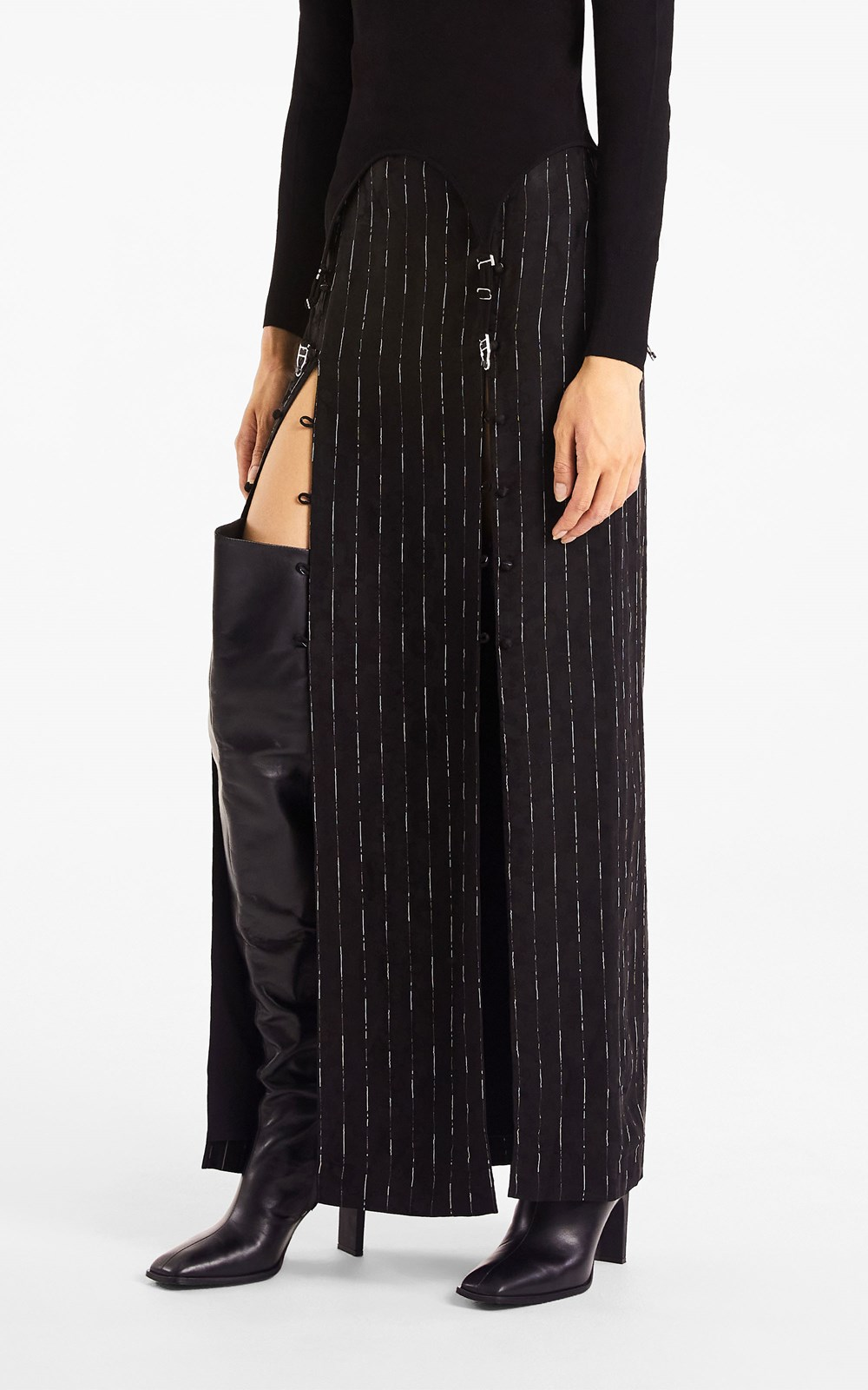 Skirts | PINSTRIPE SPLIT SKIRT