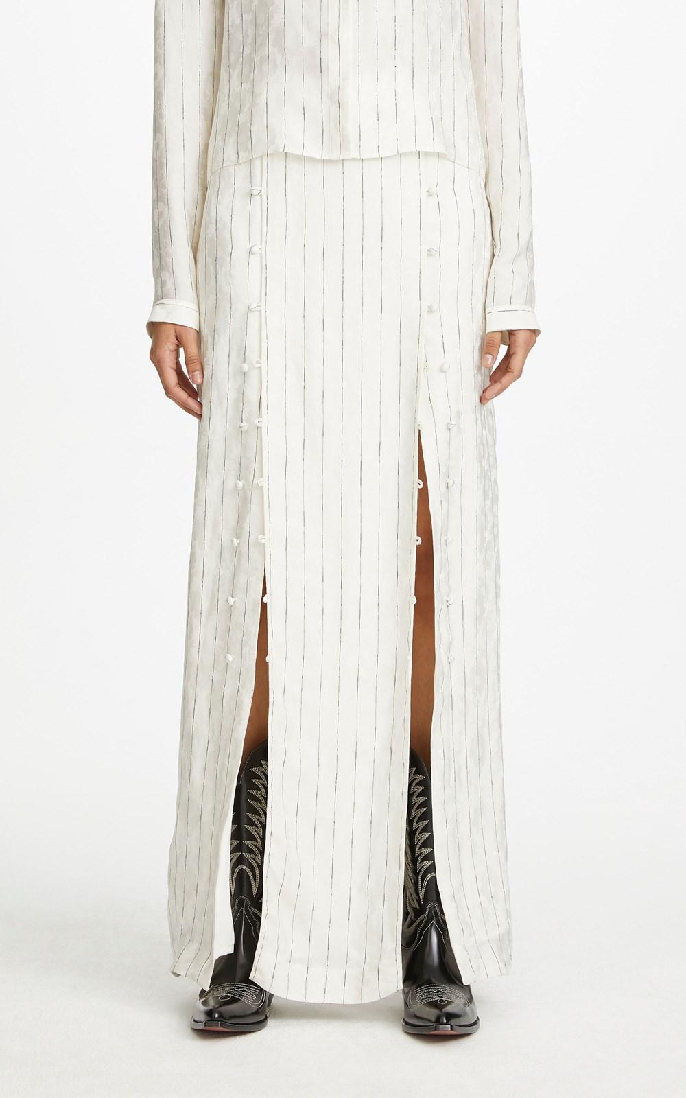 Skirts | PINSTRIPE SPLIT SKIRT