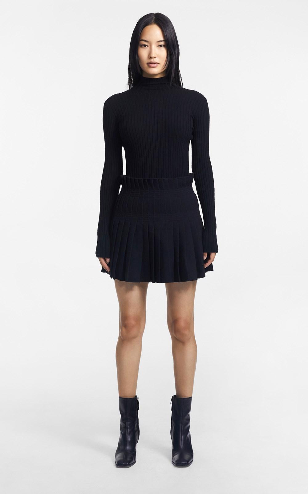 Skirts   STITCH PLEAT MINI SKIRT