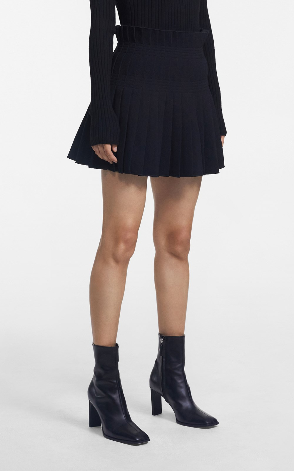 Skirts | STITCH PLEAT MINI SKIRT