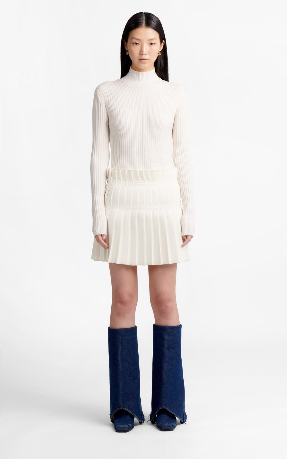 Skirts | STITCH PLEAT MINI SKIRT