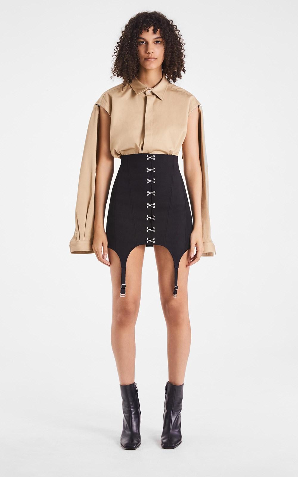 Skirts   CORSET GARTER SKIRT