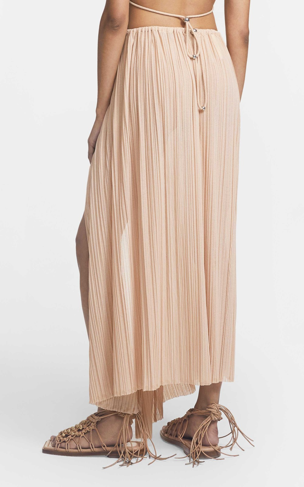 Skirts | PLEATED BEAD GATHER SKIRT