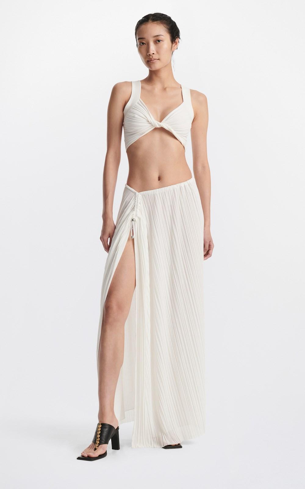 Skirts | PLEATED BEAD GATHER SKIRT