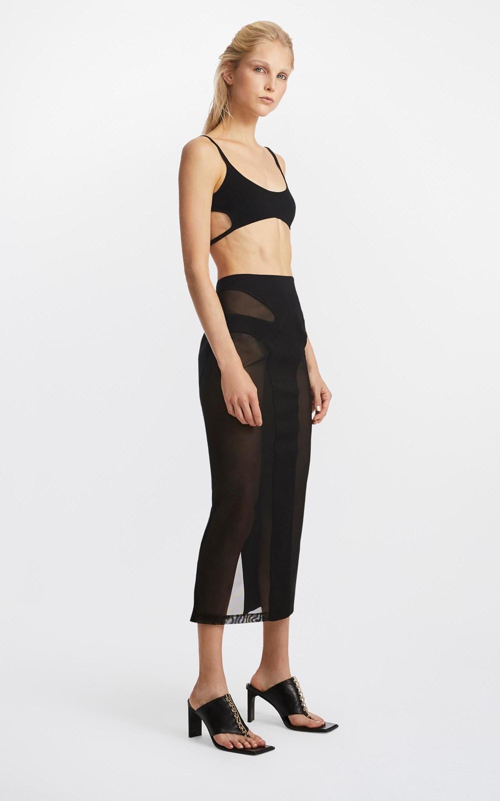 Skirts | MESH CONTOUR SKIRT