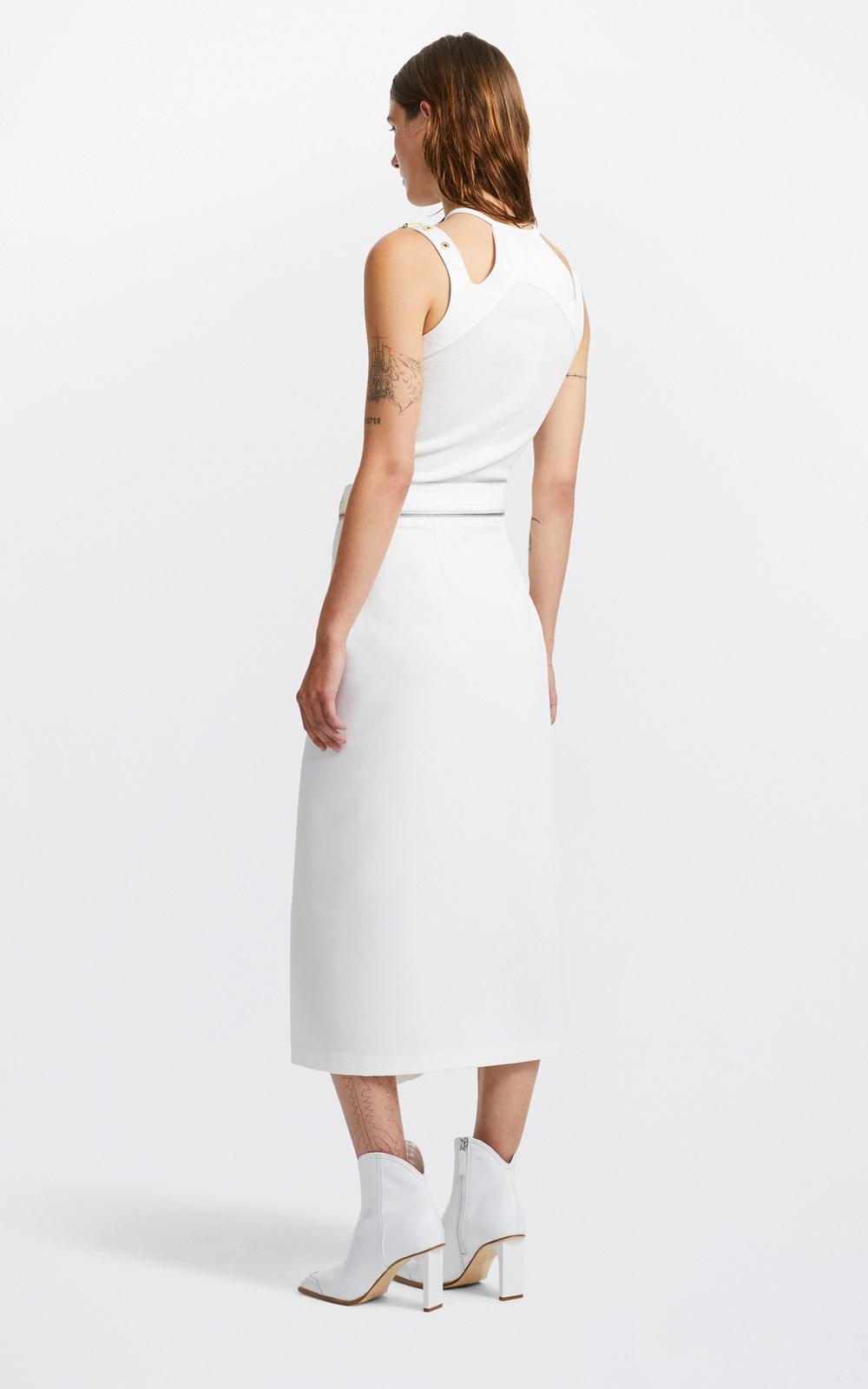 Skirts  | BELTED ZIP-AWAY SKIRT