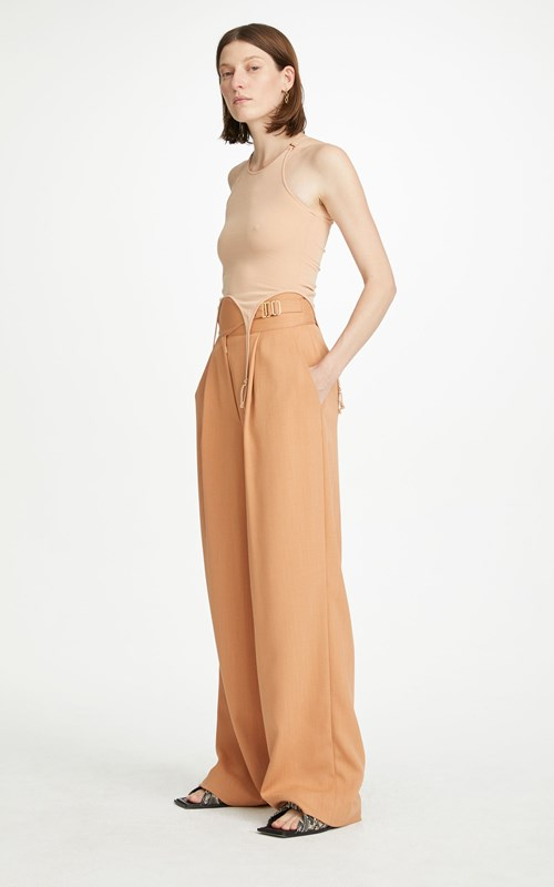 New  | CLOTH DRAPE INTERLOCK TROUSER