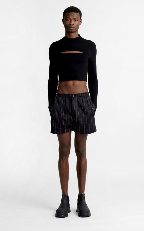Pants  | CHALK STRIPE SHORT