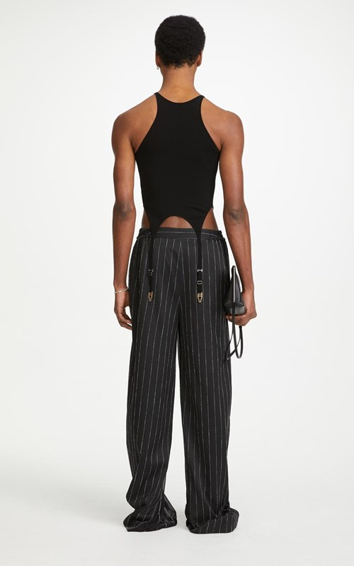 Pants | CHALK STRIPE FLOAT TROUSER