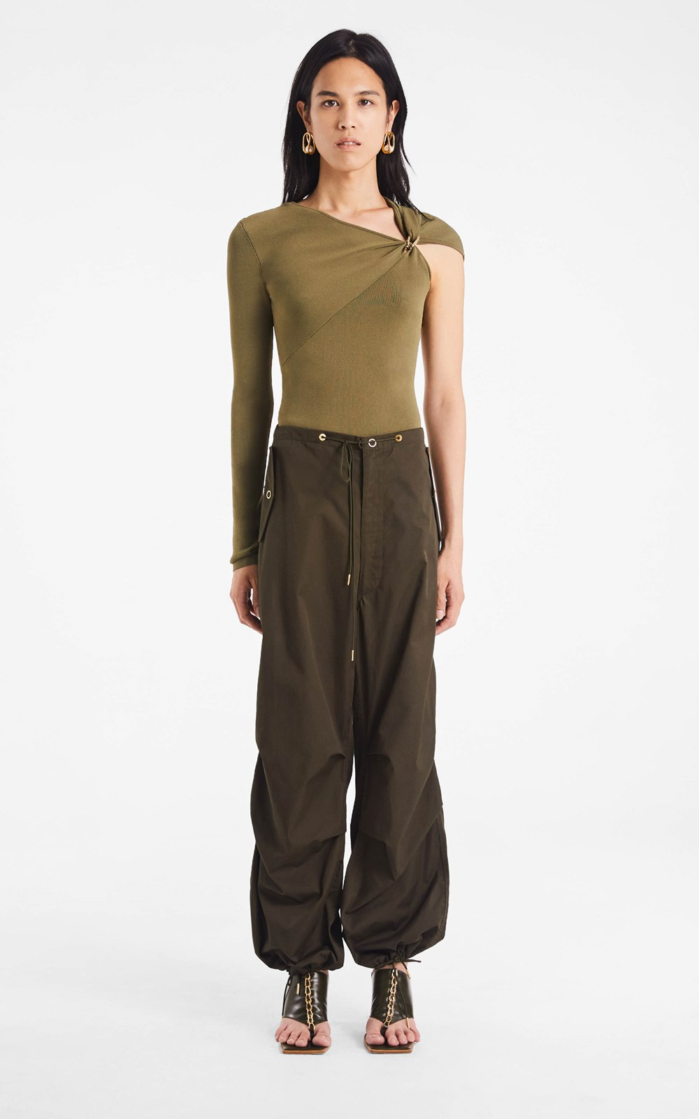 New  | COTTON PARACHUTE PANT