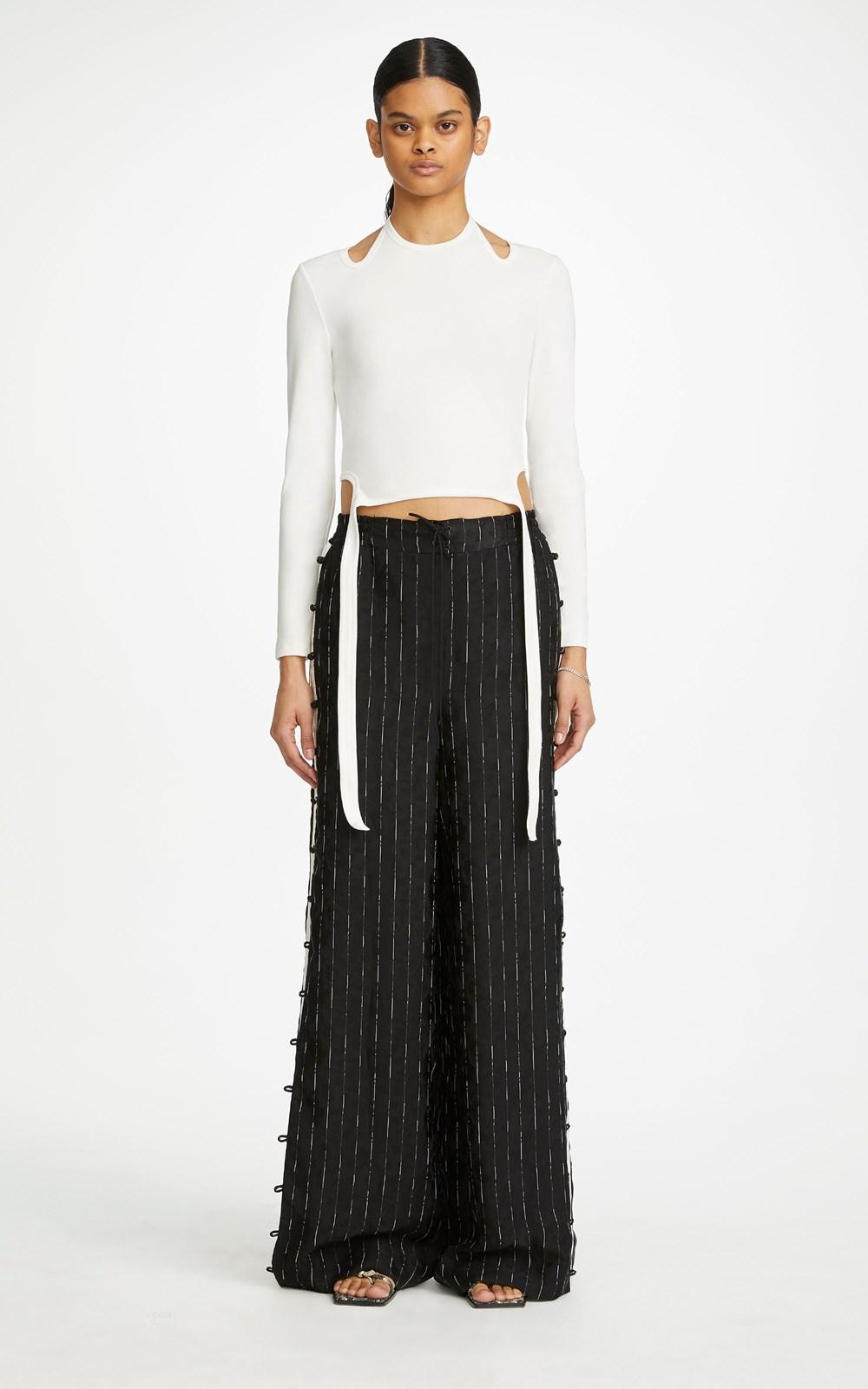 Pants | PINSTRIPE TRACK PANT