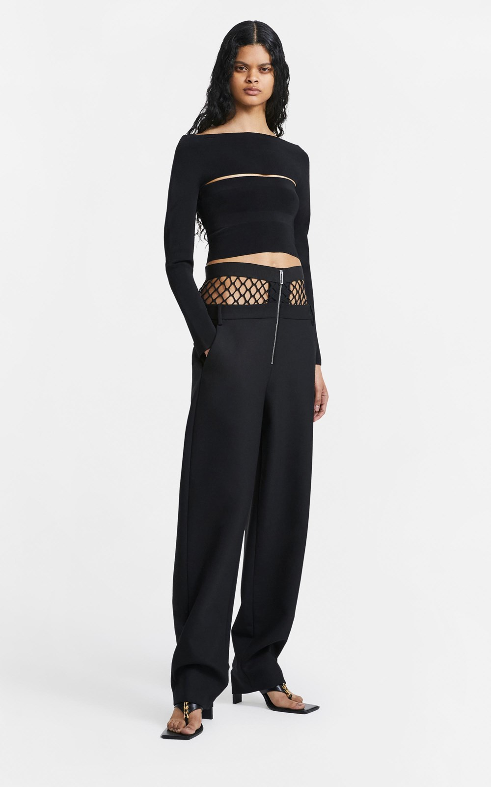 New  | FISHNET TAILORED PANT