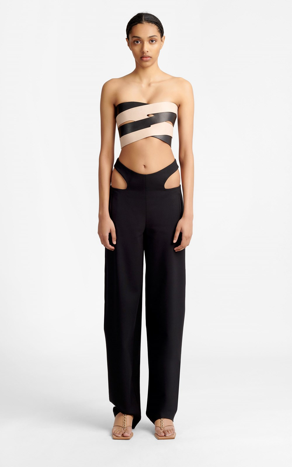 New  | Y FRONT WOOL PANT