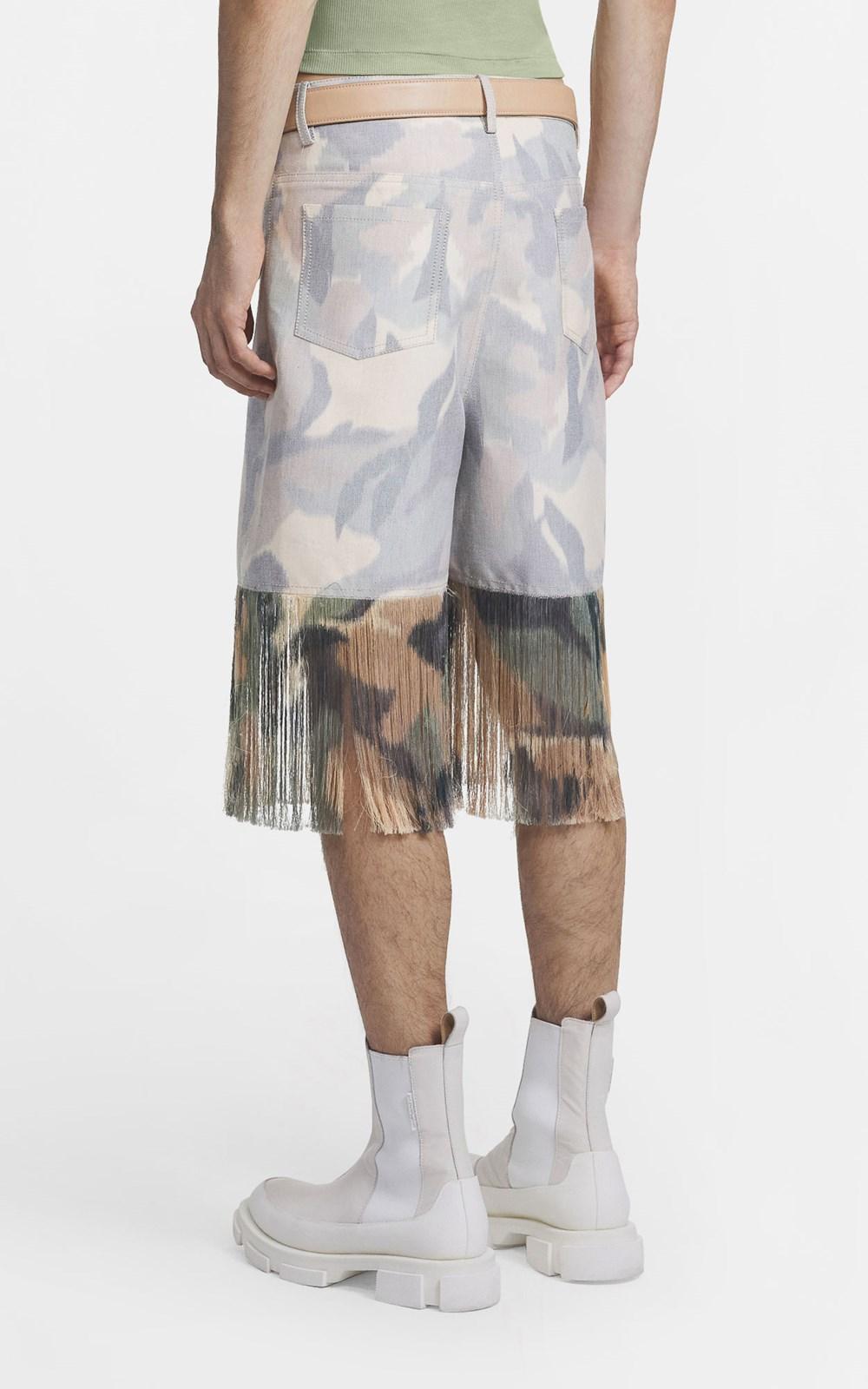 Pants | IKAT CAMO FRINGE JEAN SHORT