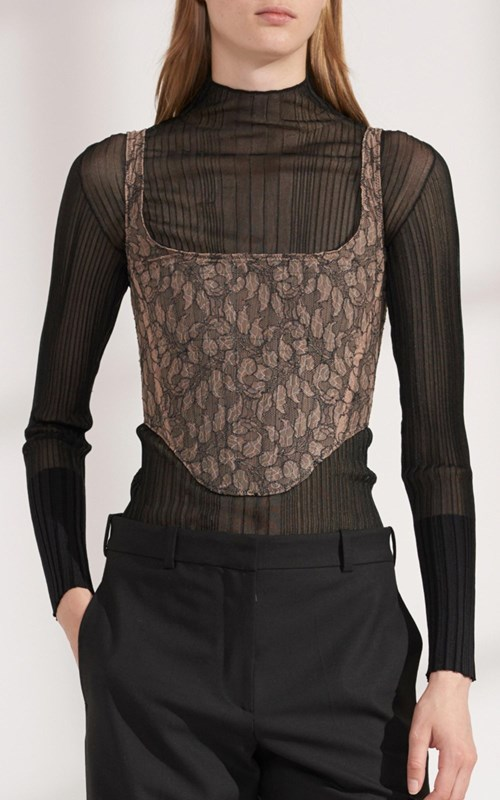 Tops  | VEIN LACE CORSET