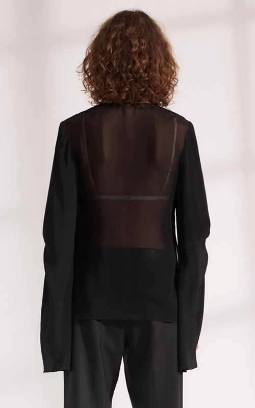 Tops | HINGE KNOT LAYERED BLOUSE