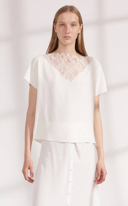 Tops | LACE APPLIQUE TOP