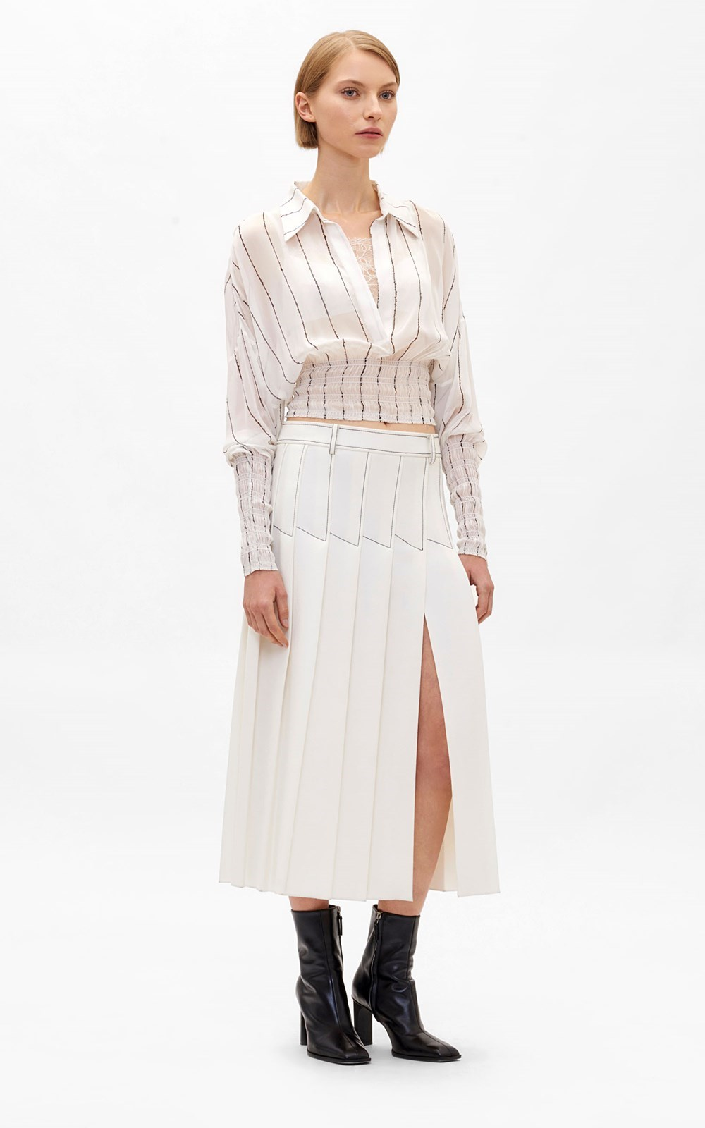Tops | SHIRRED STRIPE GGT TOP