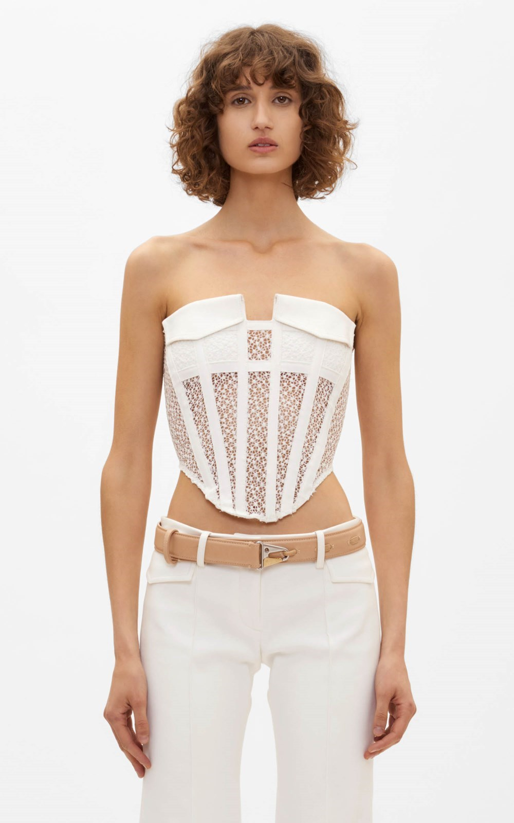 Tops | LACE POCKET CORSET
