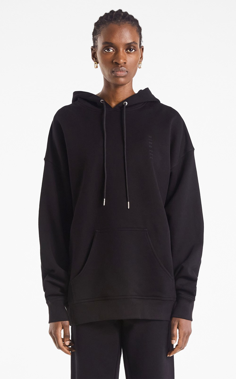 Tops  | EMBROIDERED LOGO OVERSIZED HOODIE