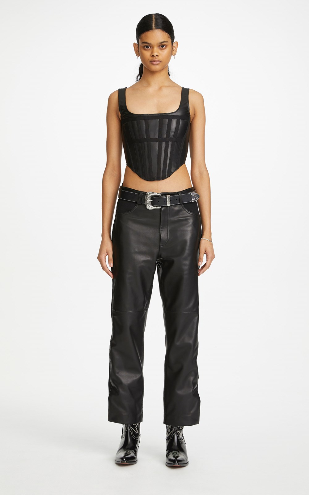 Tops | LEATHER CORSET