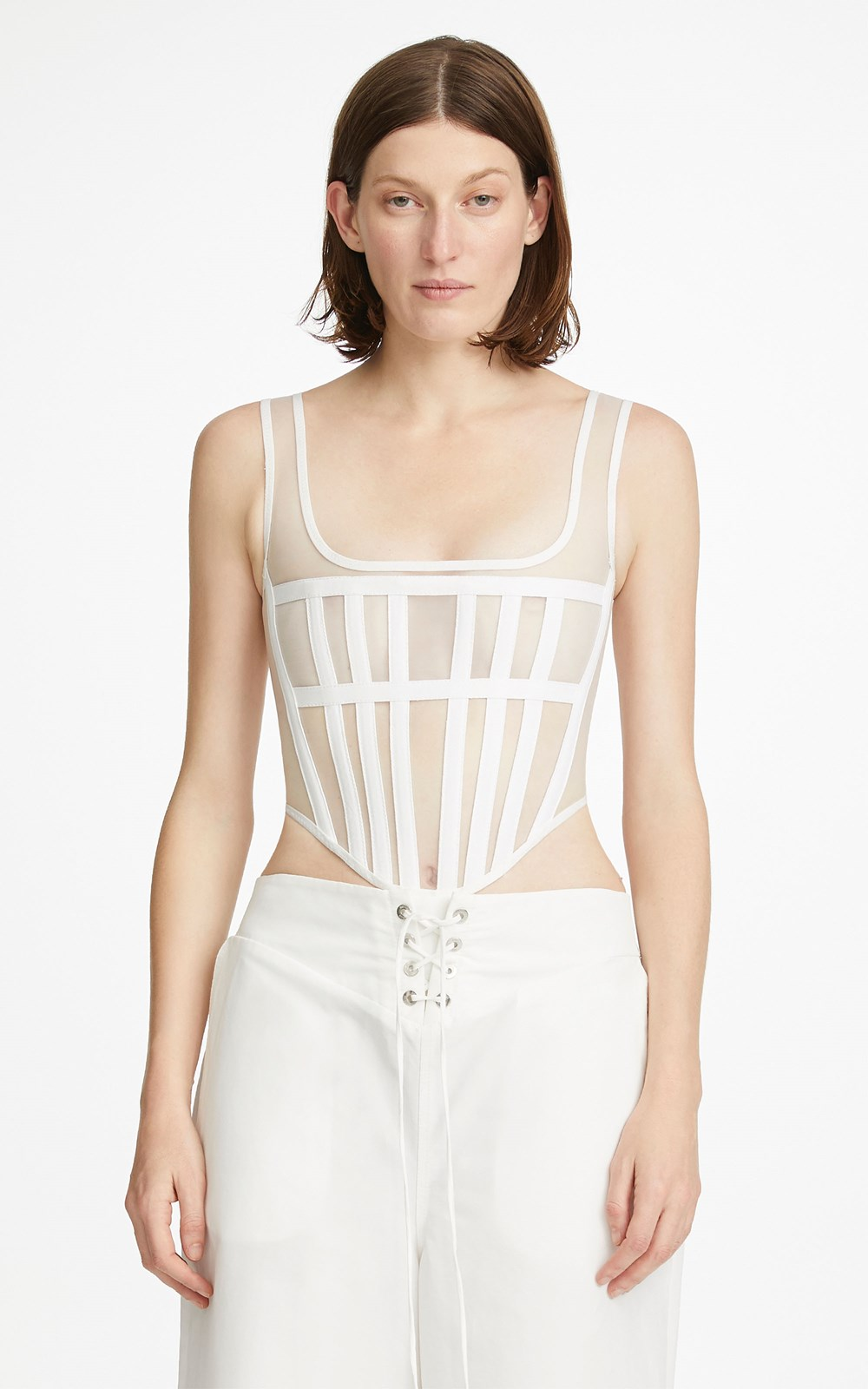 Tops | SPACER KNIT CORSET
