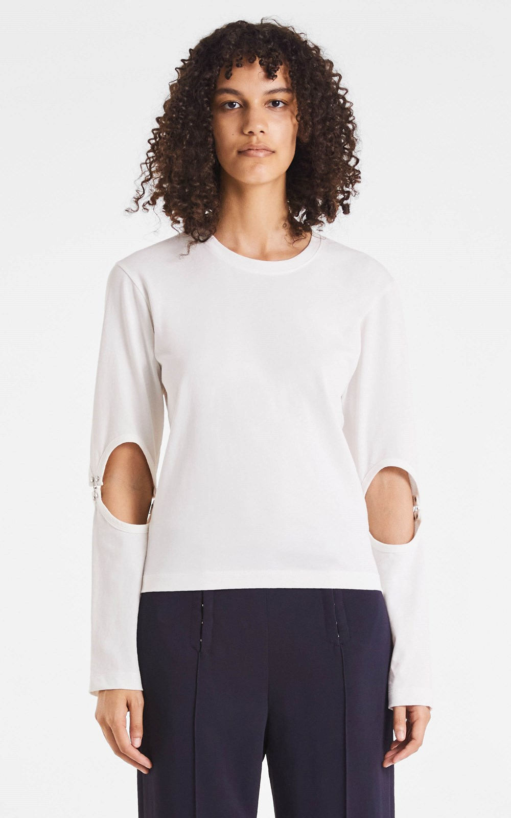 New  | RIB HOOK SLEEVE TOP