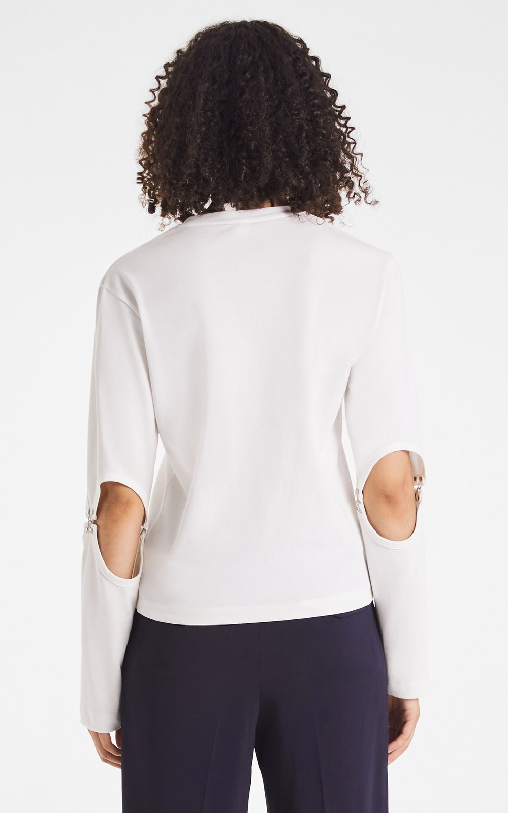 Tops | RIB HOOK SLEEVE TOP