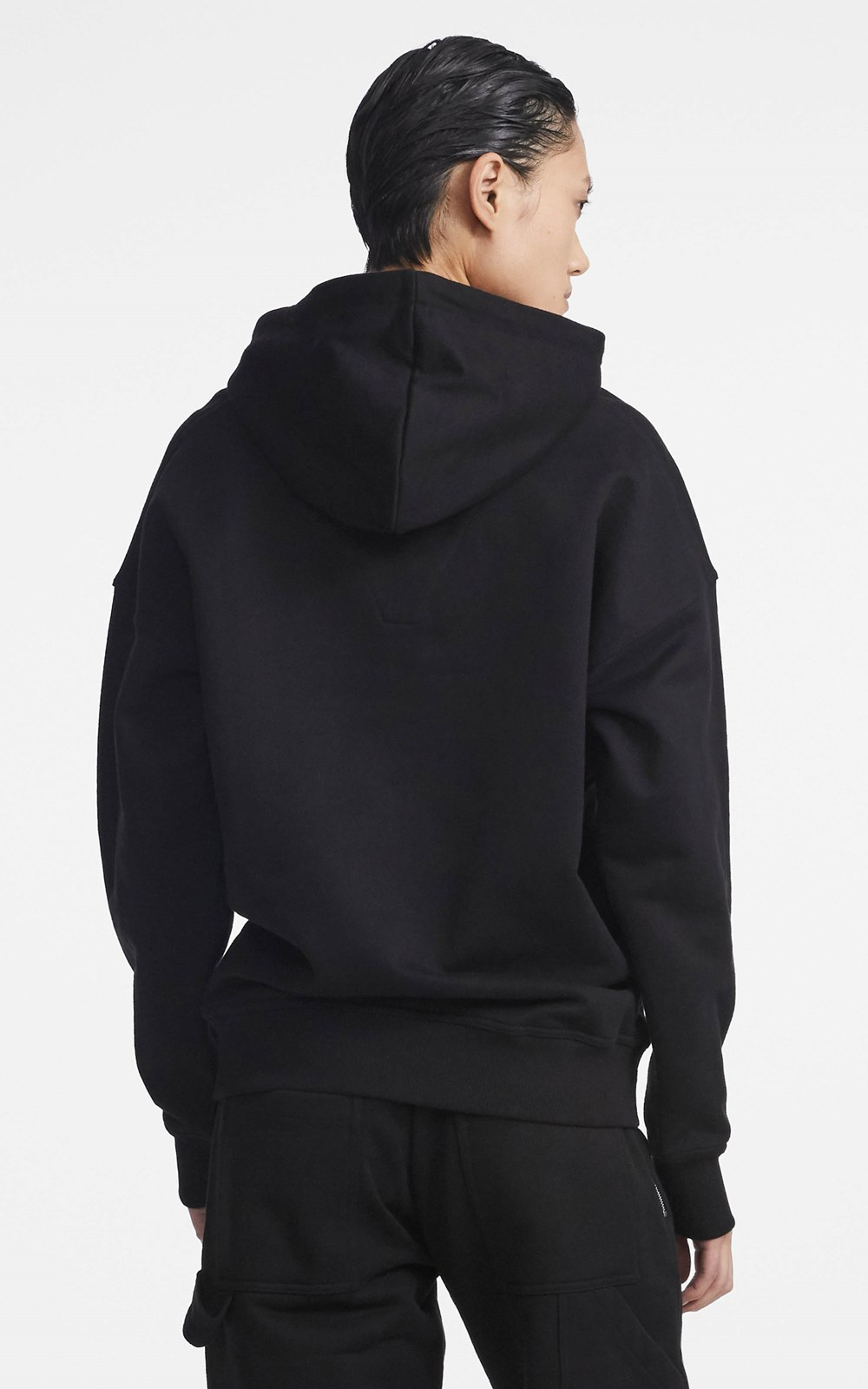 New   | CONTRAST EMBROIDERED HOODIE