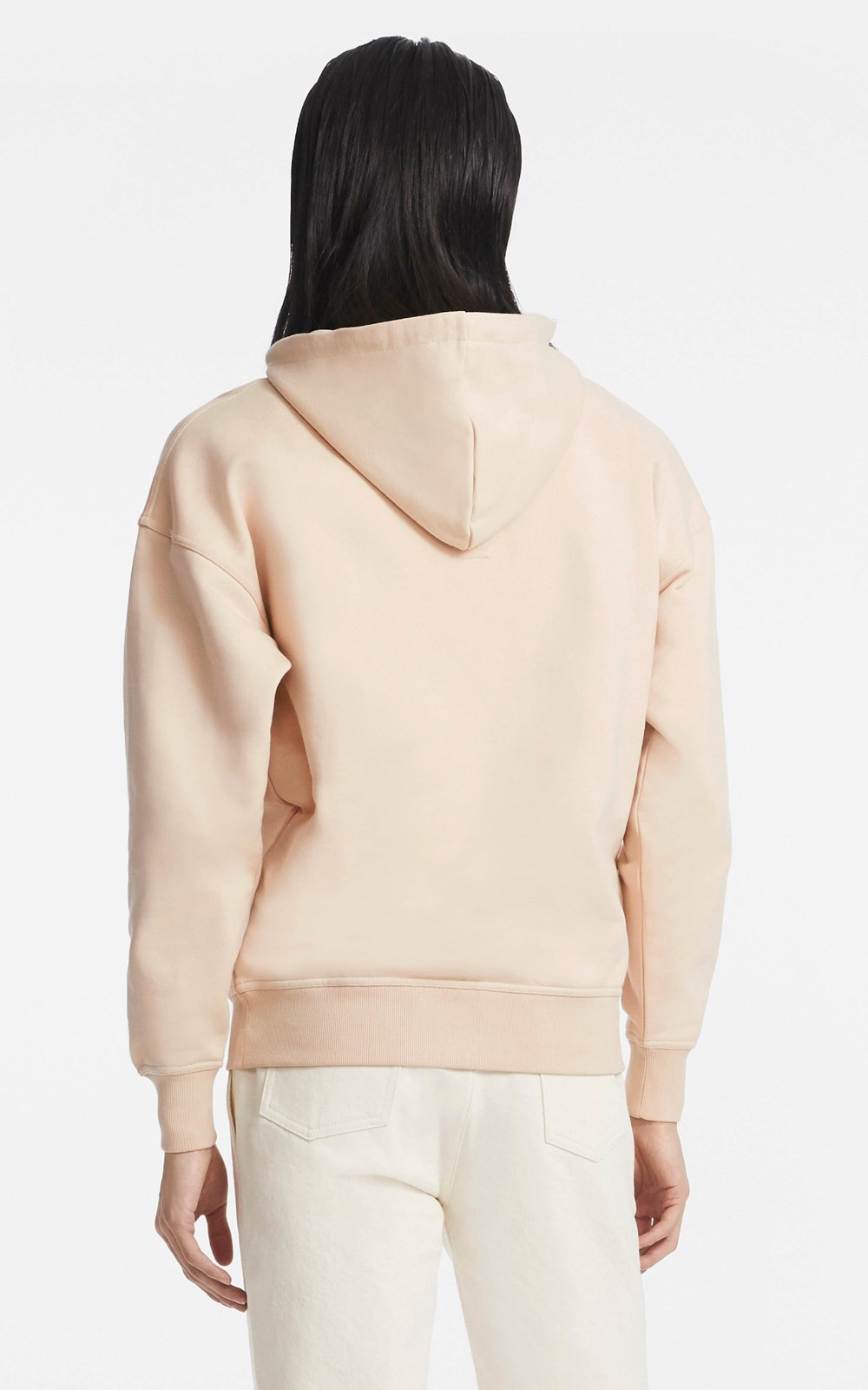 Tops | CONTRAST EMBROIDERED HOODIE