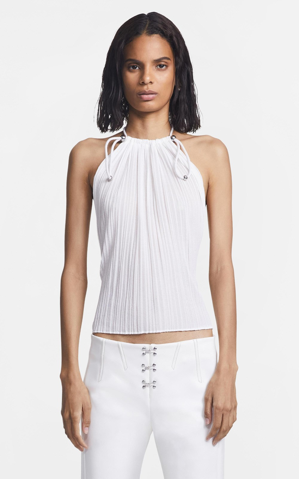 New   | PLEATED BEAD  GATHER TOP