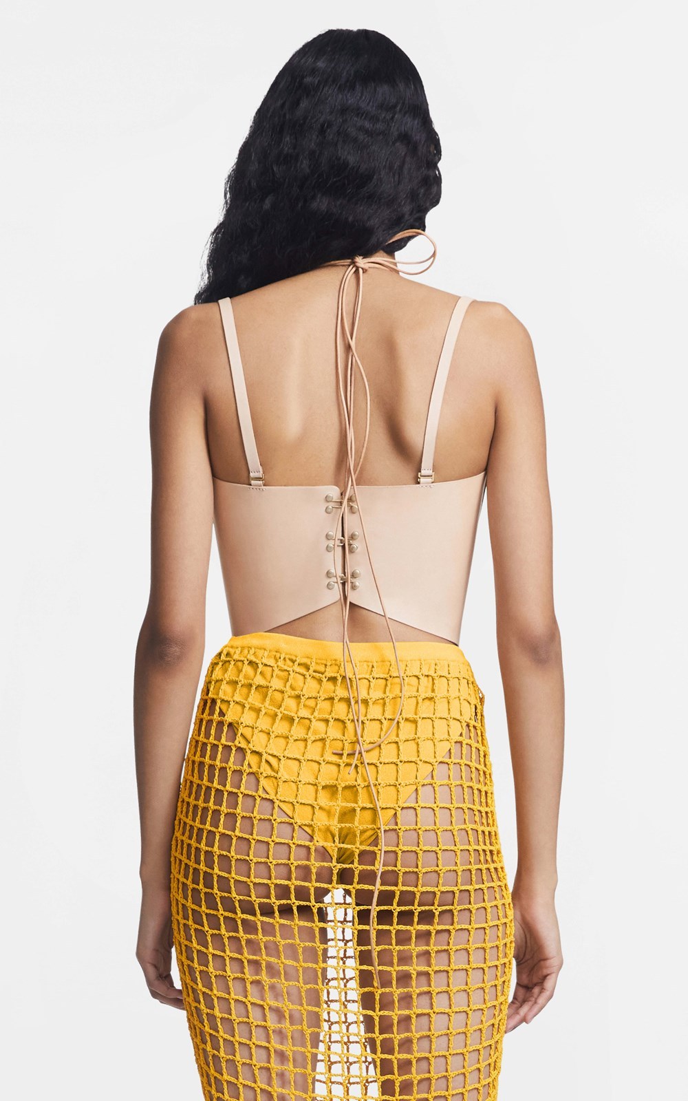 Tops  | LEATHER MACRAME CORSET TOP