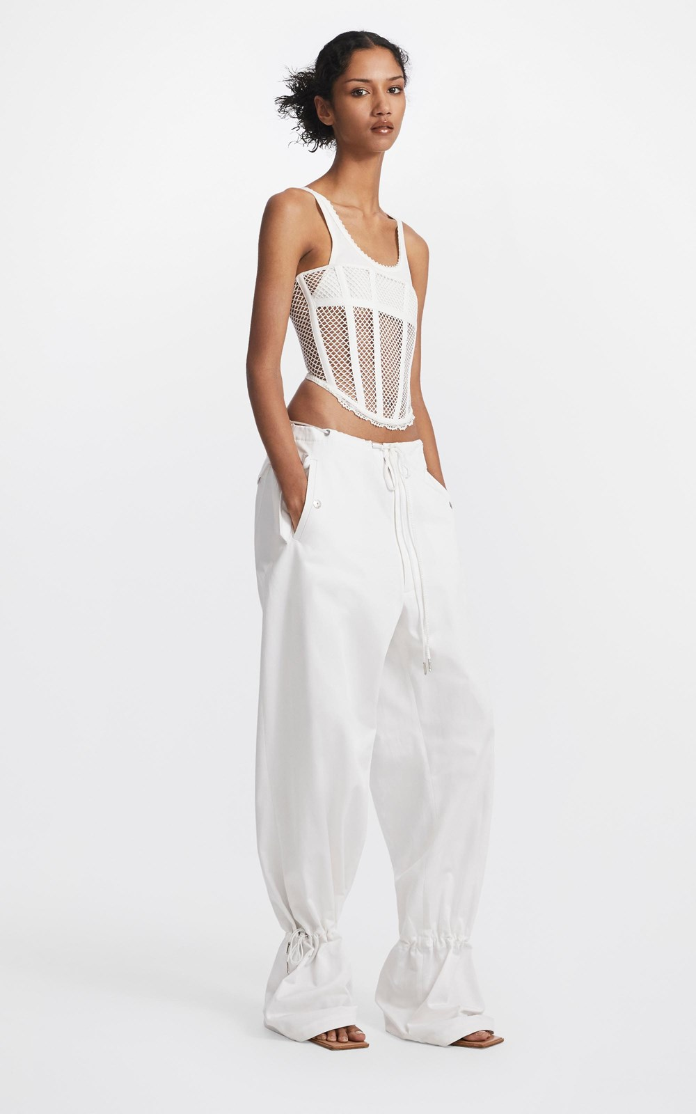 Tops   NET LACE SUSPENDED CORSET