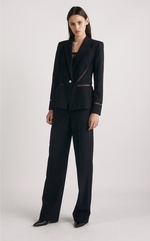 Outerwear | TAILORED MESH INSERT BLAZER