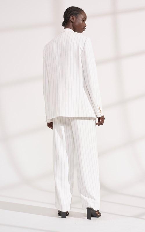 Outerwear | PINSTRIPE WHITEWASH BLAZER