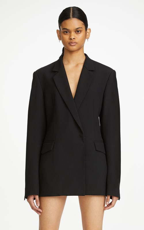 Outerwear | JERSEY HARNESS BACK BLAZER